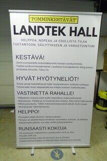 Rolll up stend - Landtek Hall