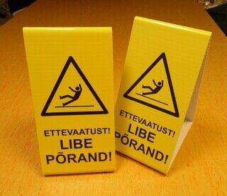 Hoiatussilt - Libe põrand!