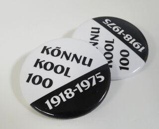 Trükiga rinnamärgid - Kõnnu Kool 100