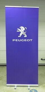 Roll up bänner logoga - Peugeot