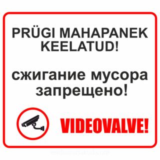Prügi mahapaneku videovalve silt