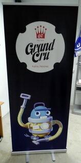 Grand Cru roll up stend