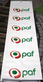 PVC bänner Paf
