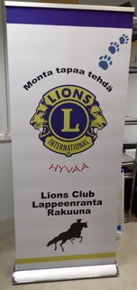 Roll up Exclusive 850x2000 mm Lions Club Lappeenranta Rakuuna