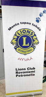 Roll-Up 850x2000 mm Lions Club Rovaniemi Petronella