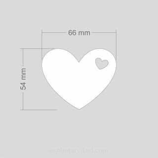 Helkur süda 66x54mm