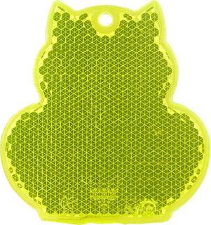 Heiastin kissa 57x59mm keltainen